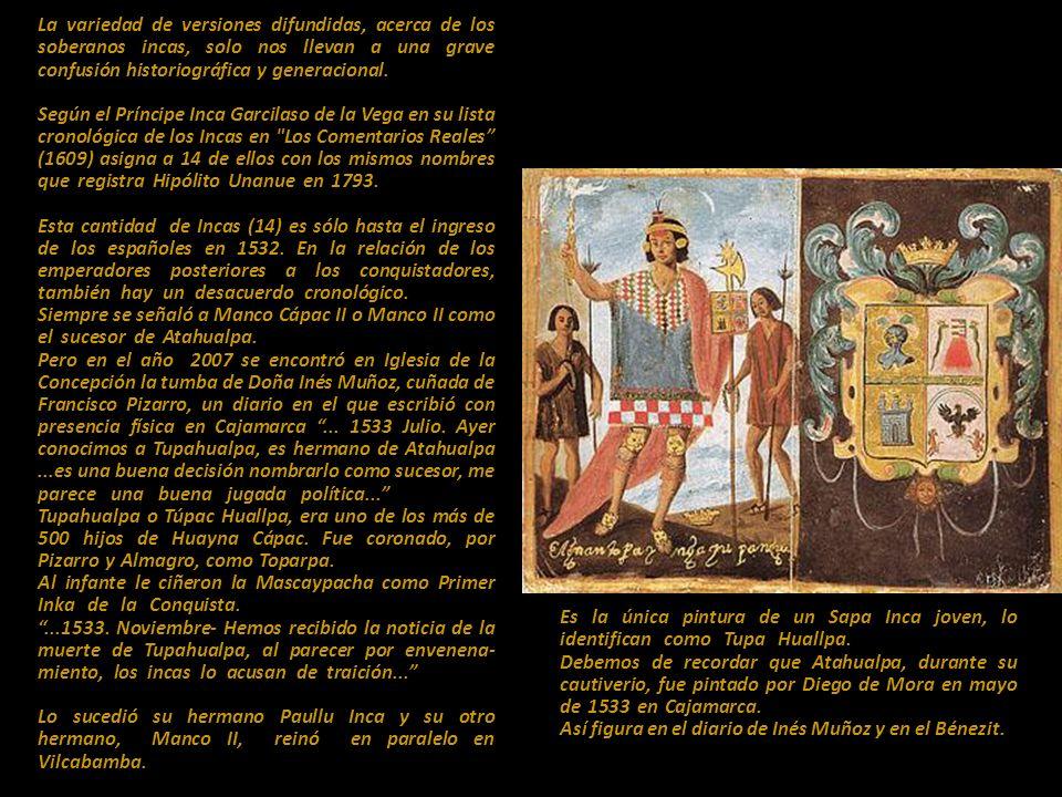 Pintura en la Catedral de Lima, imágenes de los 14 Incas, el rey Carlos V y los primeros 7 virreyes del Perú. Autor anónimo c. 1588.