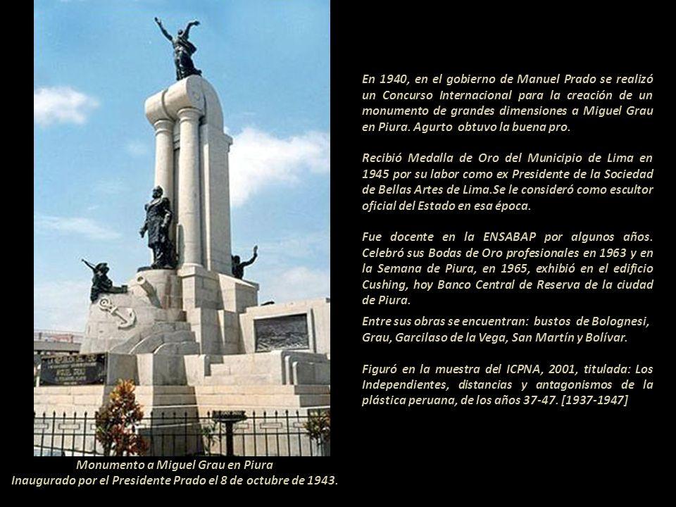 Participó en el Salón de Invierno de 1921 con un bronce de José de San Martín; Primer Salón de los Independientes de Lima, 1937 en el Palacio de la Ex