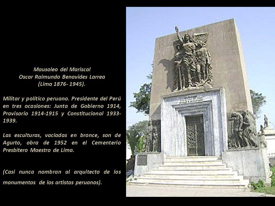 Mausoleo de Ricardo Palma Soriano (1833- 1919) Autor de la Tradiciones Peruanas Ubicado en la cuarta puerta del Cementerio Presbítero Maestro de Lima