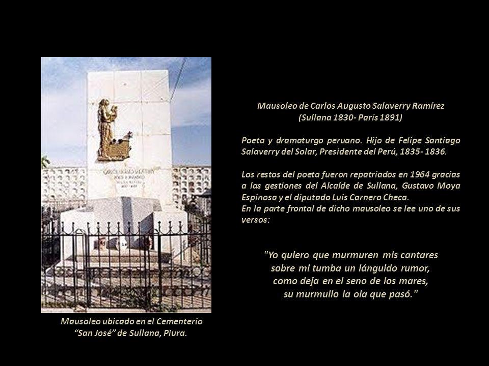 Mausoleo del Mariscal Oscar Raimundo Benavides Larrea (Lima 1876- 1945). Militar y político peruano. Presidente del Perú en tres ocasiones: Junta de G