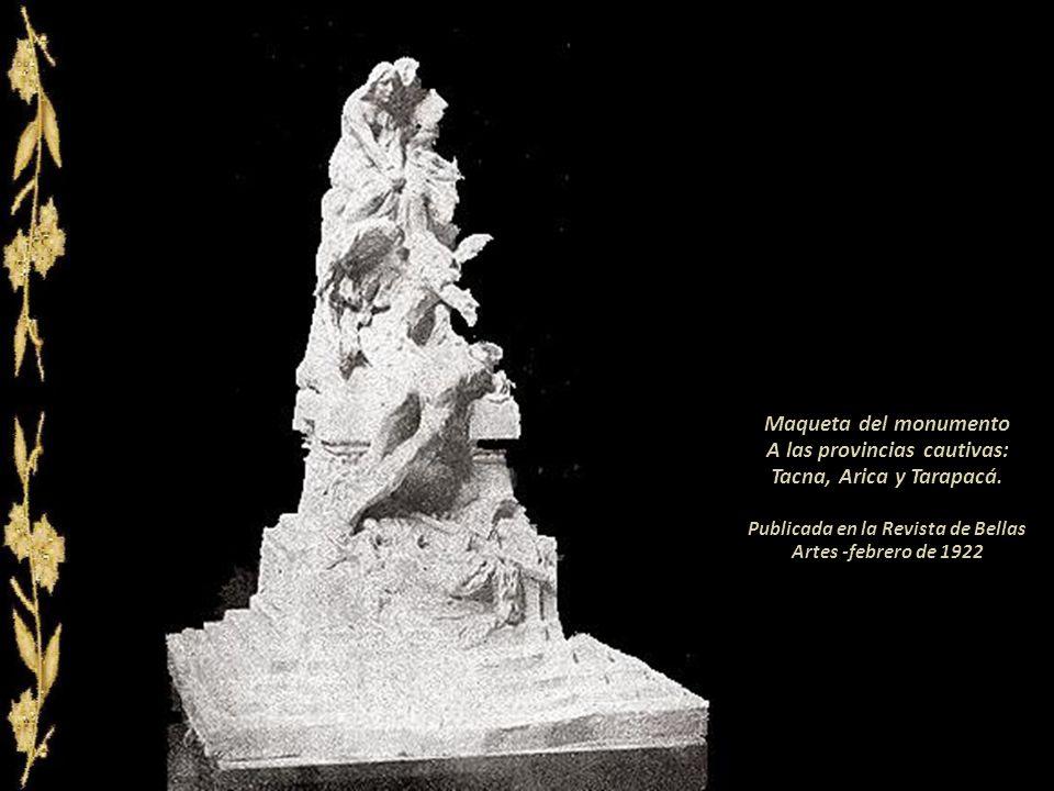 Maqueta del monumento A las provincias cautivas: Tacna, Arica y Tarapacá.