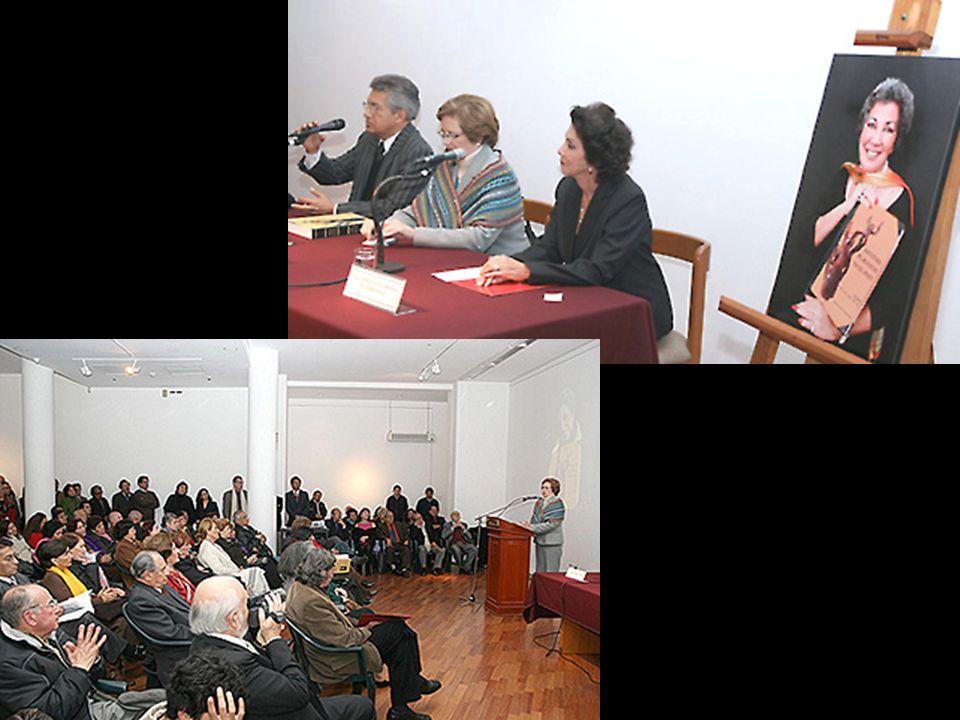 Sr. Fernando Torres Q. Dra. Cecilia Bákula B. Sra. Carmela Lavarello de Mariátegui Sala del ICPNA-Miraflores, 12 de agosto 2009. Presentación del Dicc