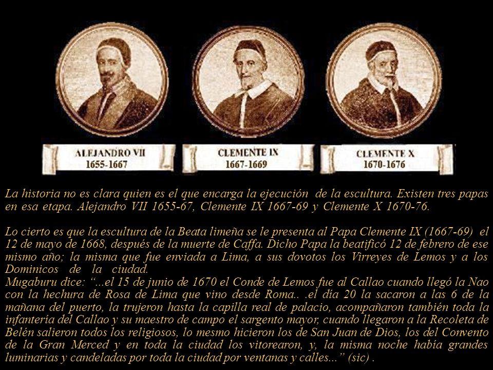 El Papa Clemente IX beatificó de Rosa el 12 de febrero de 1668, la fiesta oficial fue realizada el 15 de abril de 1668 en la Basílica de San Pedro. En