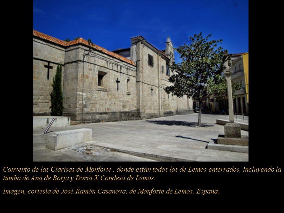 El cuerpo del virrey Conde de Lemos fue sepultado en la actual Iglesia de San Pedro, llamada en esa época, Iglesia de San Pablo. No se encuentra, en e