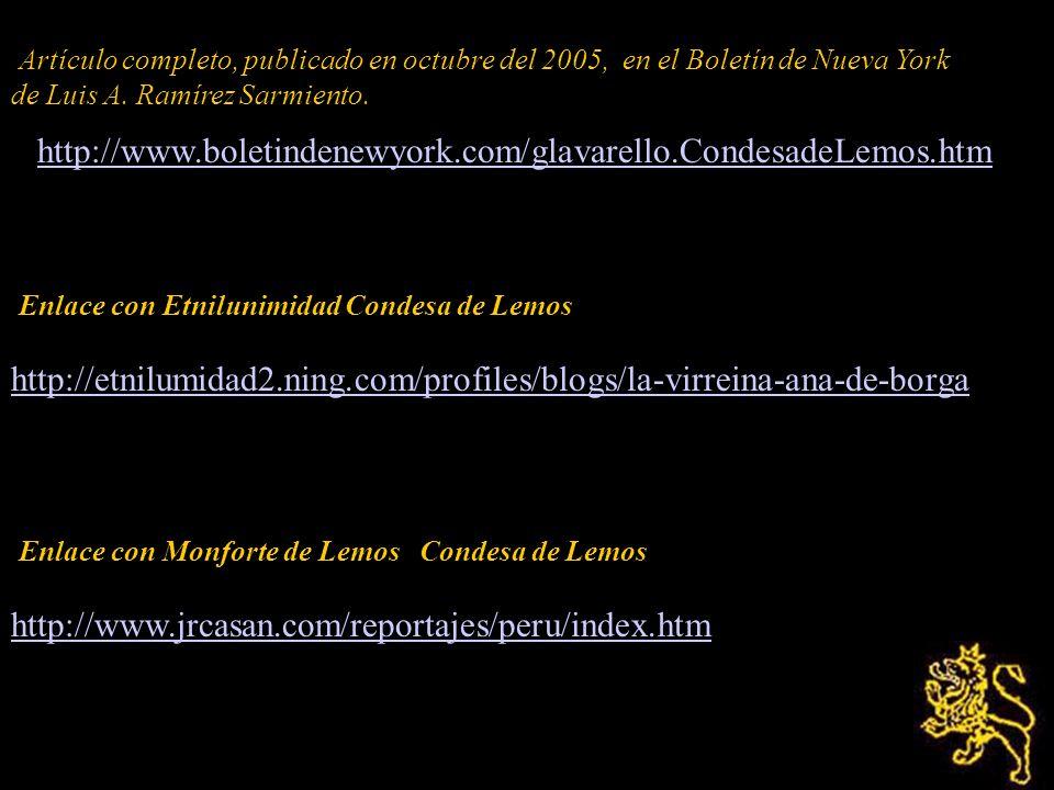 Fuentes: Diario de Lima (1640-1694) de Josephe y Francisco Mugaburu, Imprenta C Vásquez, 1935. Genealogía Genea-Portugal, Internet, 2005. Santa Rosa d