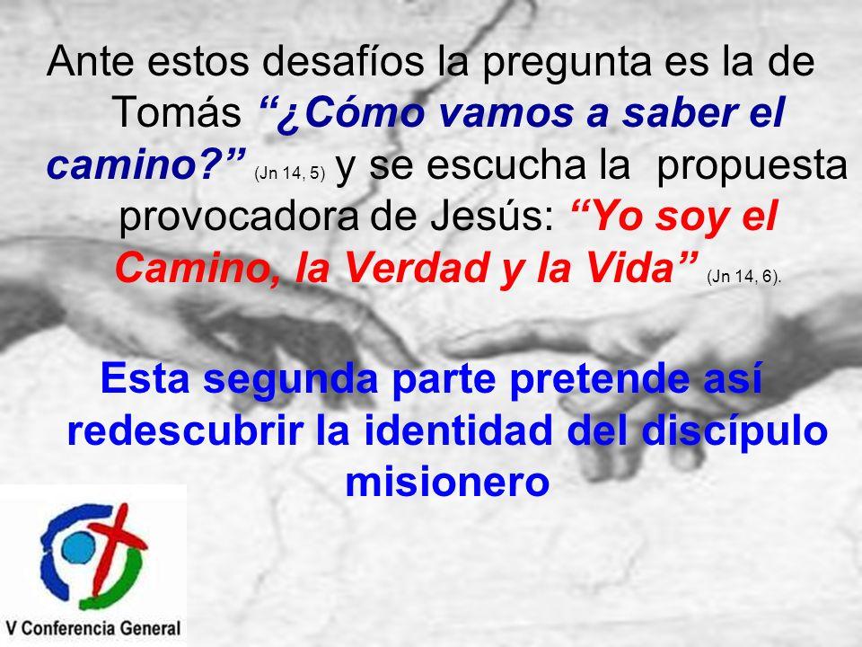 Ante estos desafíos la pregunta es la de Tomás ¿Cómo vamos a saber el camino? (Jn 14, 5) y se escucha la propuesta provocadora de Jesús: Yo soy el Cam