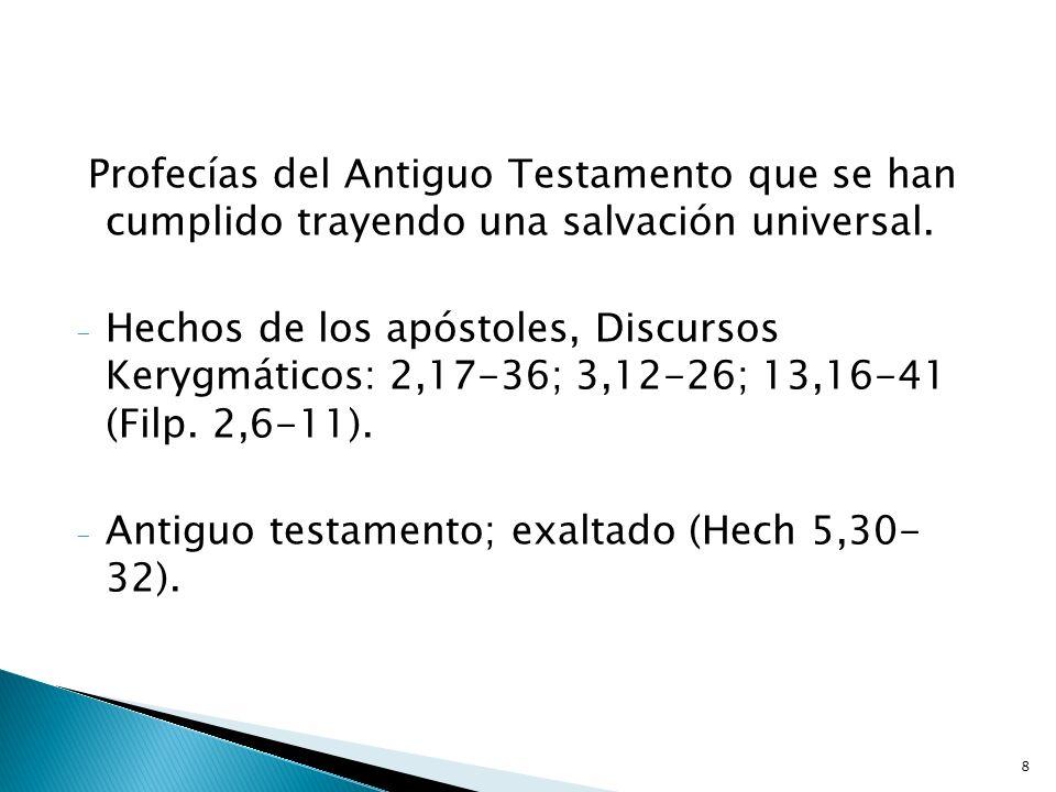 8 Profecías del Antiguo Testamento que se han cumplido trayendo una salvación universal. - Hechos de los apóstoles, Discursos Kerygmáticos: 2,17-36; 3