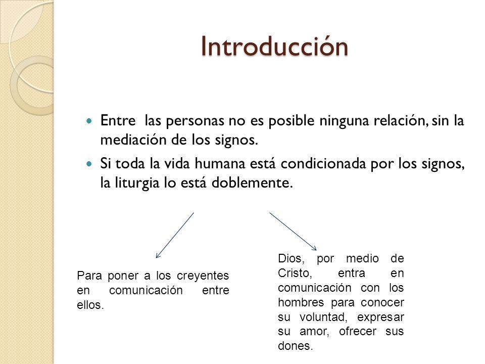 Introducción Entre las personas no es posible ninguna relación, sin la mediación de los signos. Si toda la vida humana está condicionada por los signo