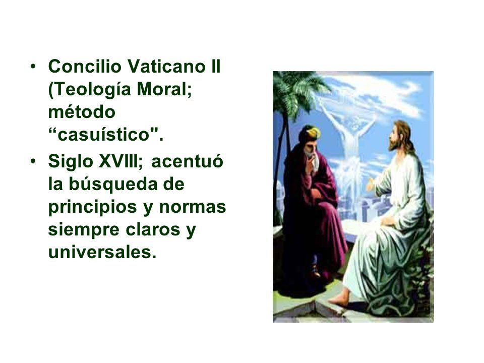 Concilio Vaticano II (Teología Moral; método casuístico