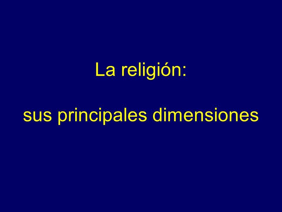 La religión: sus principales dimensiones