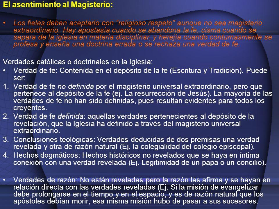 El asentimiento al Magisterio: Los fieles deben aceptarlo con