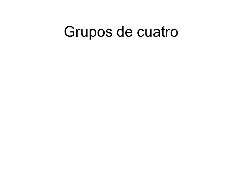 Grupos de cuatro