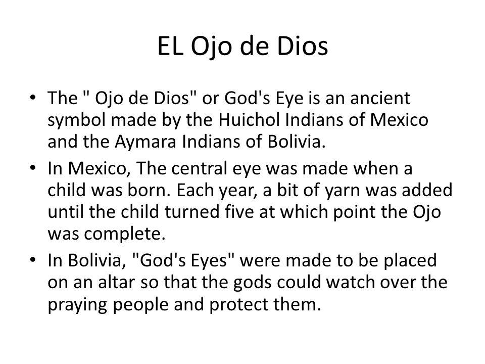 Preguntas/Questions ALC 53 1.¿Cómo se escribe Ojo de Dios en inglés.