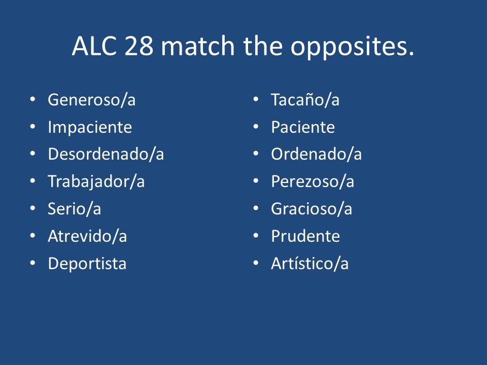 ALC 28 Answers.