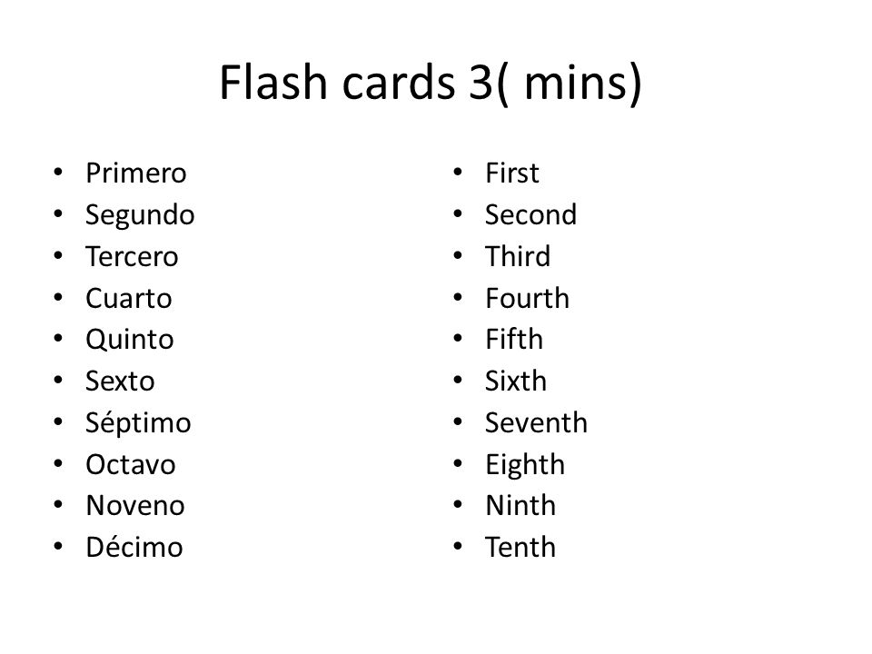 Mix the cards up Put in ascending order 10 th – 1 st