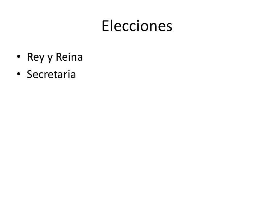 Elecciones Rey y Reina Secretaria