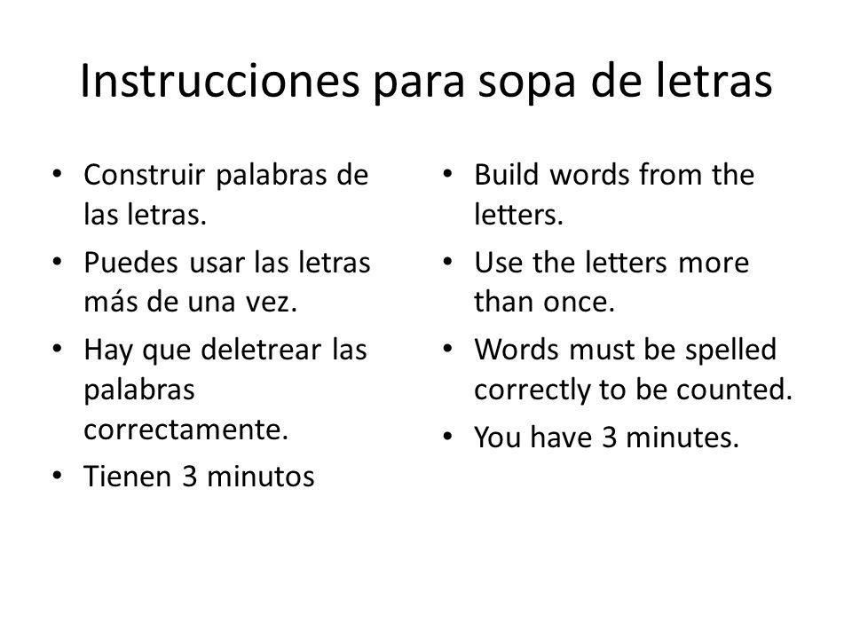 objetivo Completar busca palabras. Prueba de deletrear notas Construir frases Jugar con las tarjetas de memoria Complete word search. Spelling quiz no
