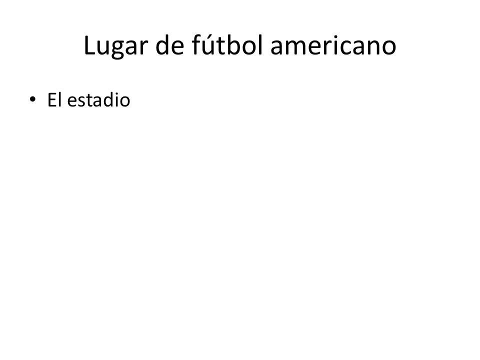 Lugar de fútbol americano El estadio