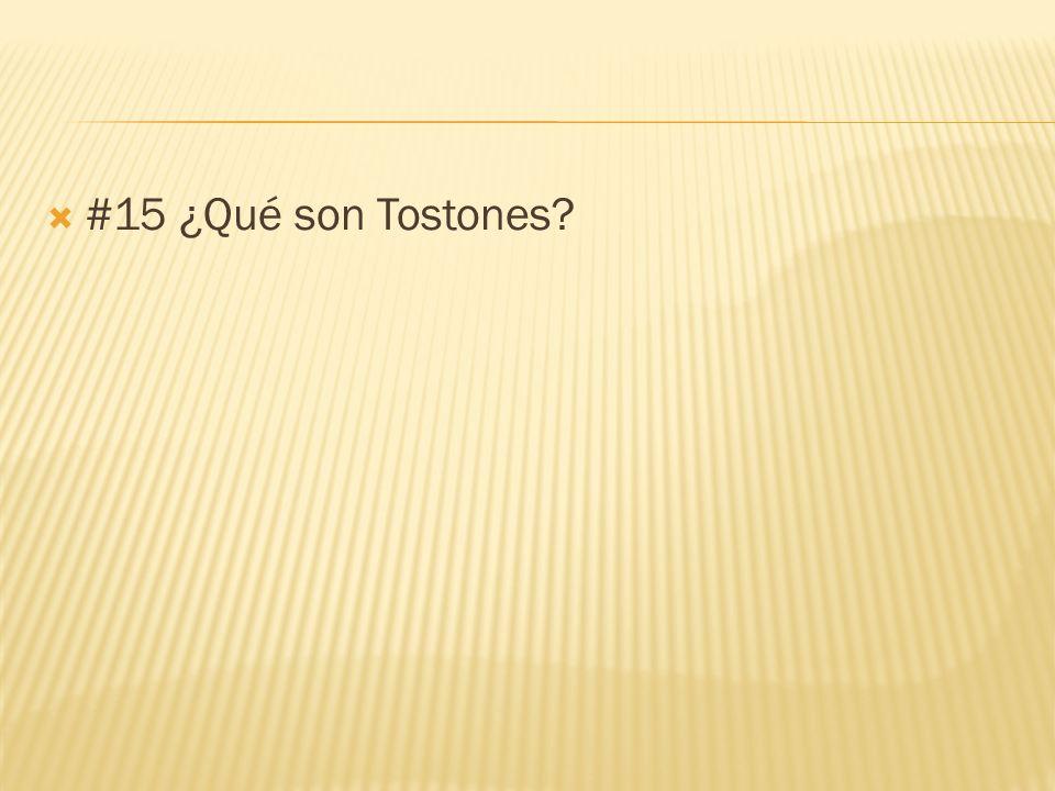 #15 ¿Qué son Tostones?