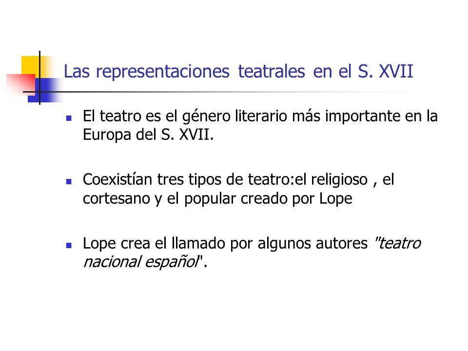 El teatro es el género literario más importante en la Europa del S.