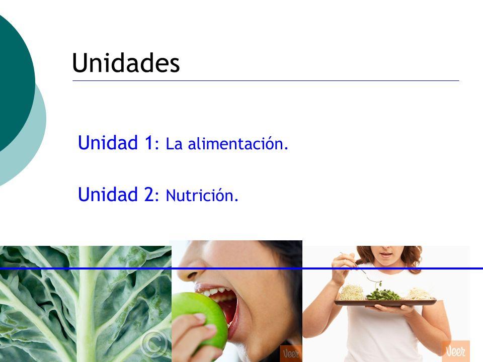 ctoledo@usach.cl31 Unidades Unidad 1 : La alimentación. Unidad 2 : Nutrición.