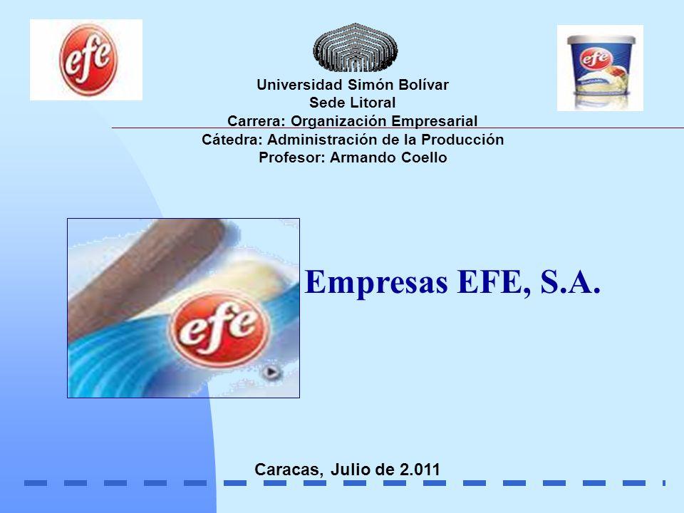 Procesos Productivos Tipos de Helados Un helado es un producto de sabor dulce, obtenidos a partir de una mezcla de agua y otros ingredientes En PRODUCTOS EFE S.A.