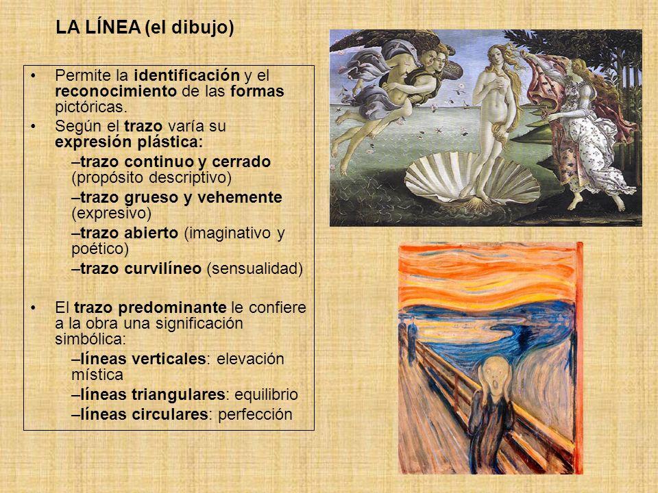 EL VOLUMEN A pesar del carácter bidimensional de la pintura, el autor puede conseguir transmitir efectos de tridimensionalidad, es decir, de volumen mediante el uso adecuado de: la línea el color la perspectiva la luz.