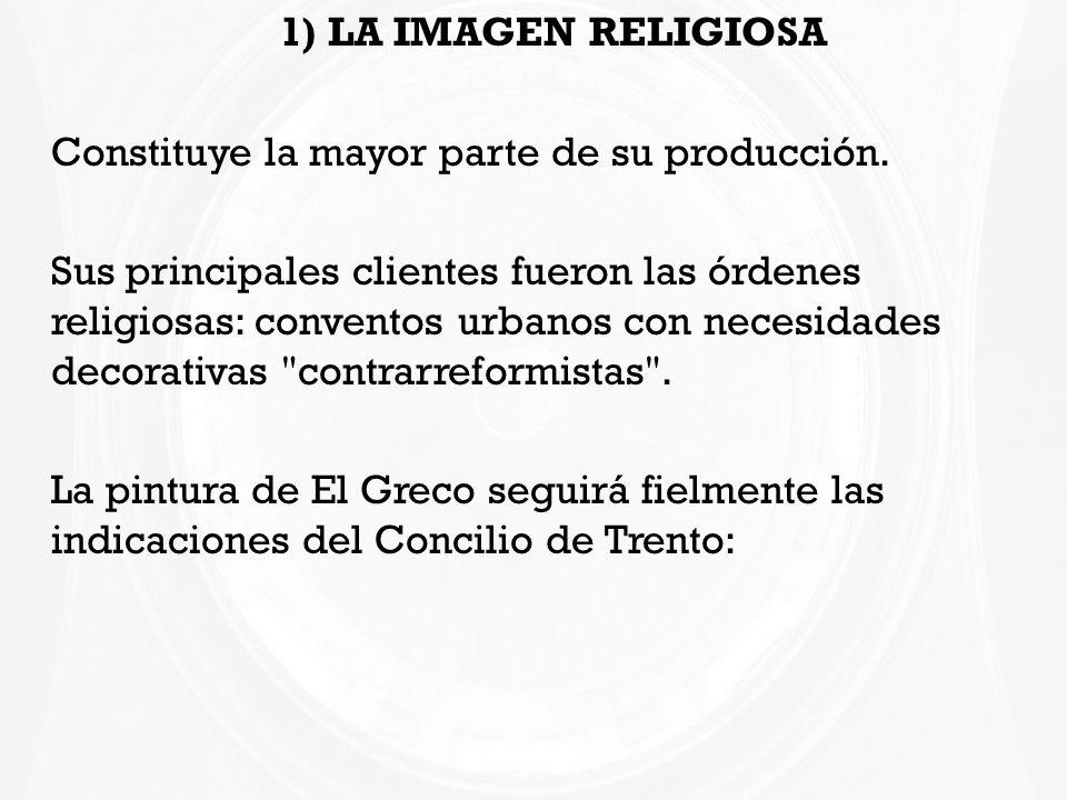 1) LA IMAGEN RELIGIOSA Constituye la mayor parte de su producción. Sus principales clientes fueron las órdenes religiosas: conventos urbanos con neces