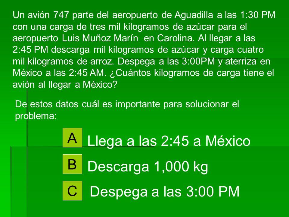 Un avión 747 parte del aeropuerto de Aguadilla a las 1:30 PM con una carga de tres mil kilogramos de azúcar para el aeropuerto Luis Muñoz Marín en Carolina.