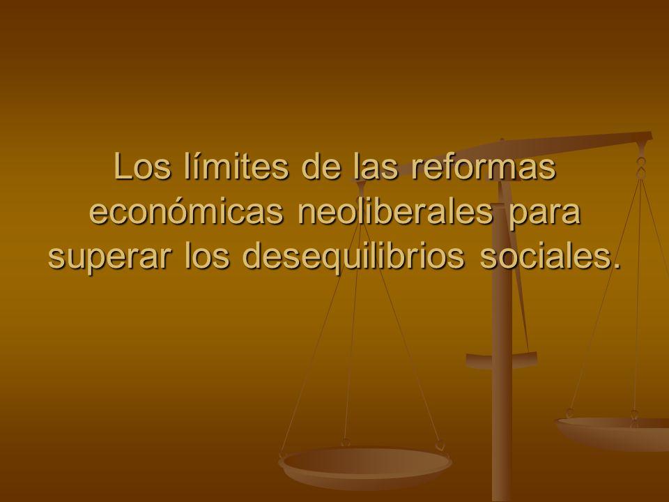 Los límites de las reformas económicas neoliberales para superar los desequilibrios sociales.