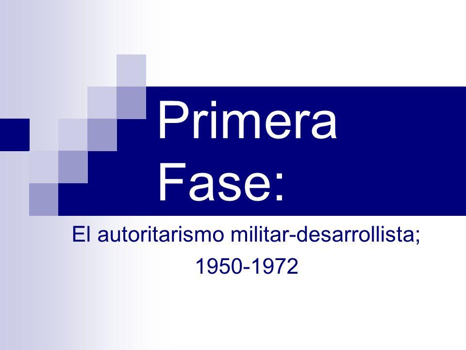 Gobierno del coronel Oscar Osorio.