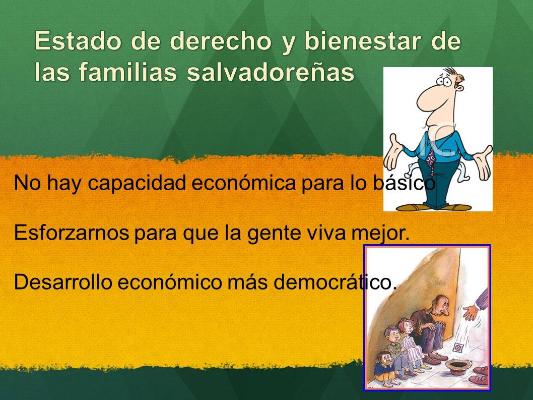 No hay capacidad económica para lo básico Esforzarnos para que la gente viva mejor.