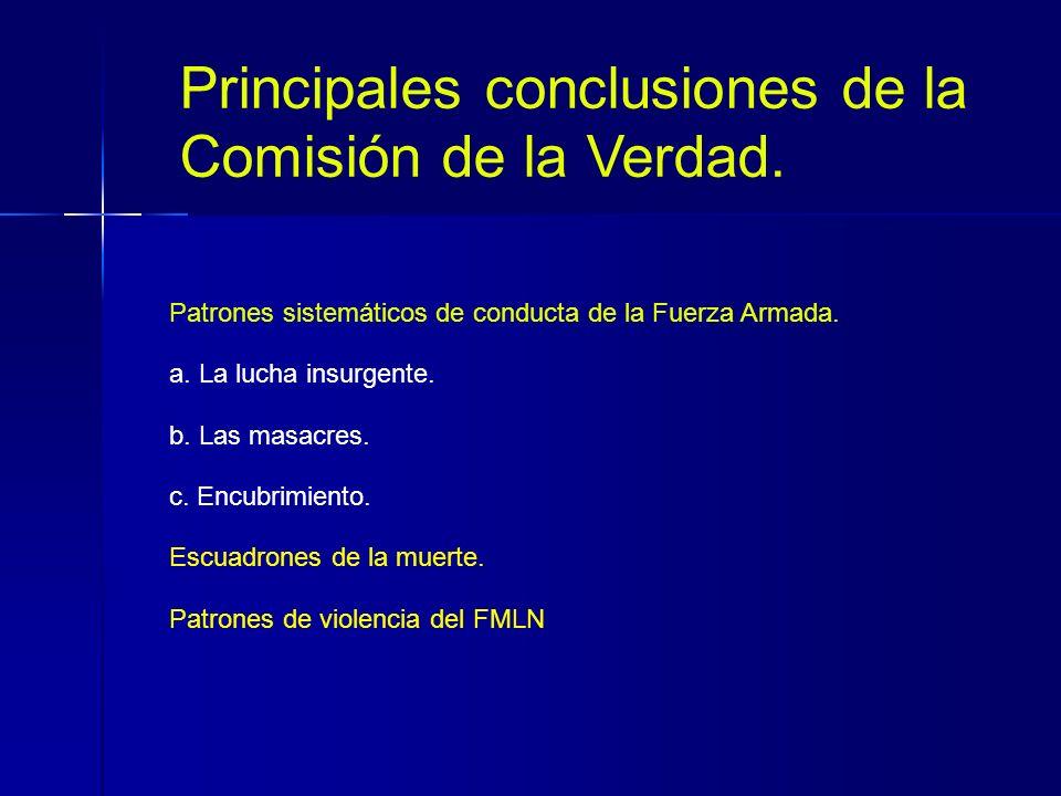 Principales conclusiones de la Comisión de la Verdad.