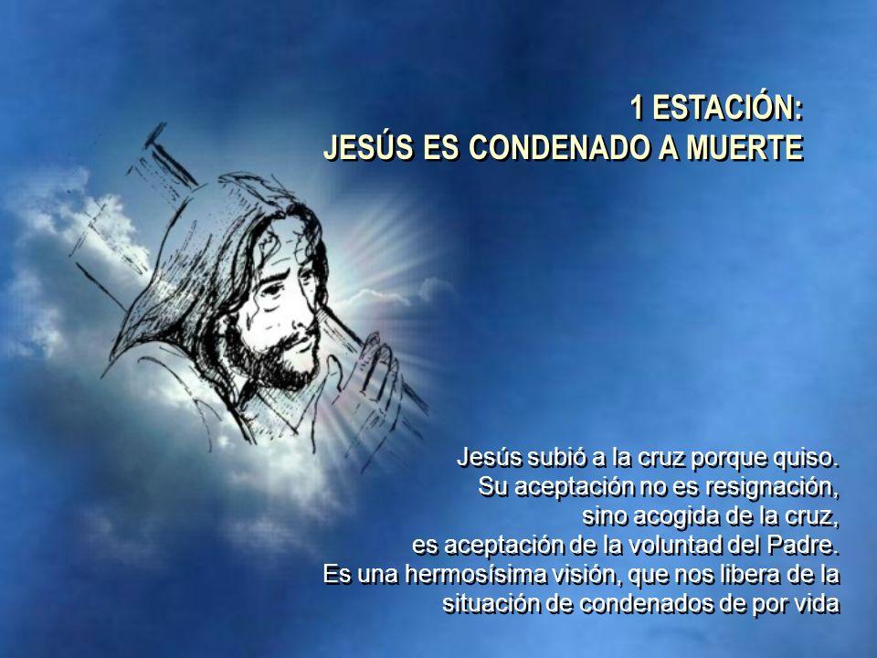 Jesús subió a la cruz porque quiso. Su aceptación no es resignación, sino acogida de la cruz, es aceptación de la voluntad del Padre. Es una hermosísi