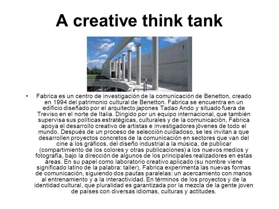A creative think tank Fabrica es un centro de investigación de la comunicación de Benetton, creado en 1994 del patrimonio cultural de Benetton. Fabric