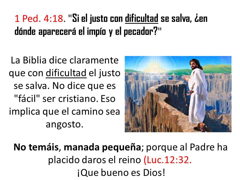 Quizá usted se preguntará ¿Por qué, pues, dice Cristo en (Mat.