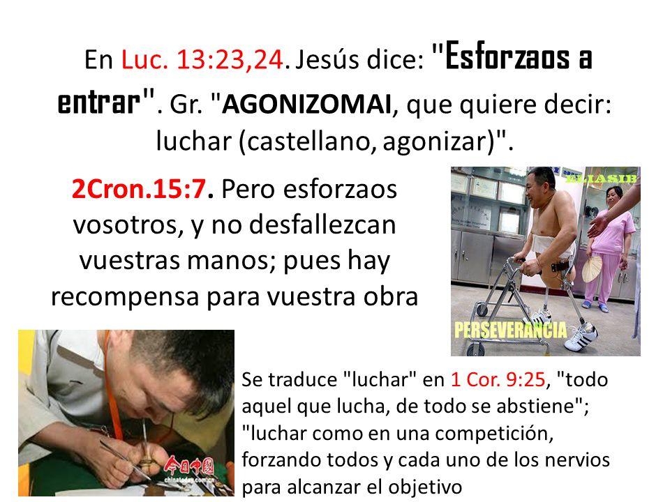 «Esforzaos» se traduce pelear en 1 Tim.