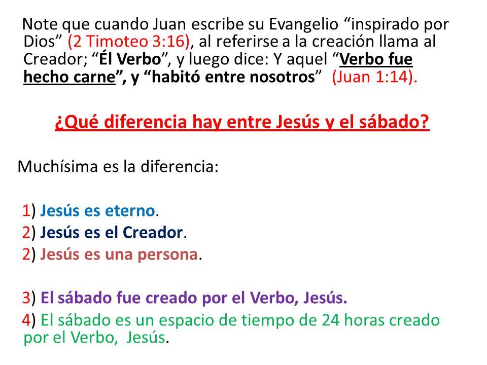 Note que cuando Juan escribe su Evangelio inspirado por Dios (2 Timoteo 3:16), al referirse a la creación llama al Creador; Él Verbo, y luego dice: Y