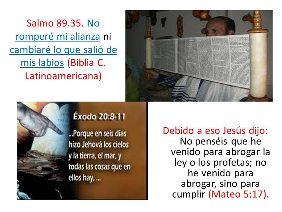 Debido a eso Jesús dijo: No penséis que he venido para abrogar la ley o los profetas; no he venido para abrogar, sino para cumplir (Mateo 5:17). Salmo