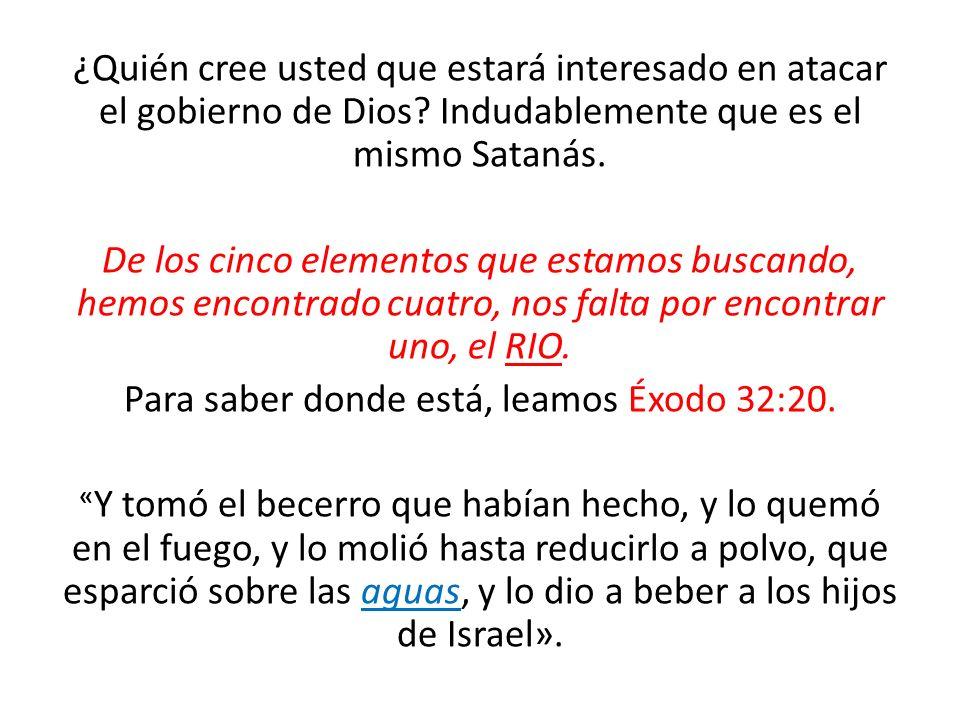 ¿Quién cree usted que estará interesado en atacar el gobierno de Dios? Indudablemente que es el mismo Satanás. De los cinco elementos que estamos busc
