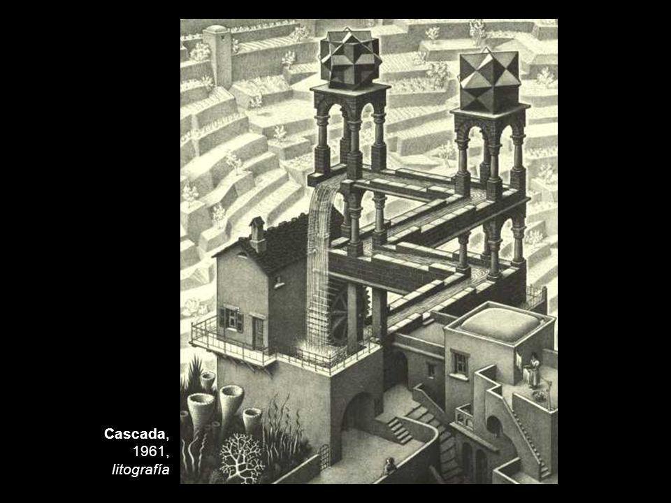 Cascada, 1961, litografía