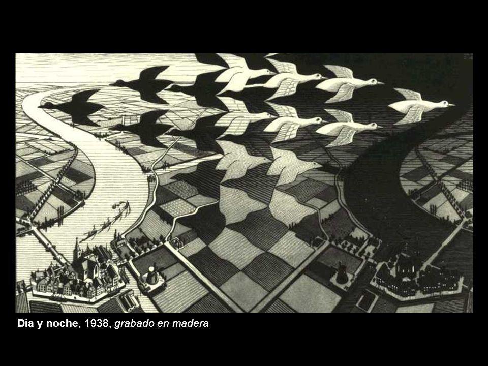Día y noche, 1938, grabado en madera