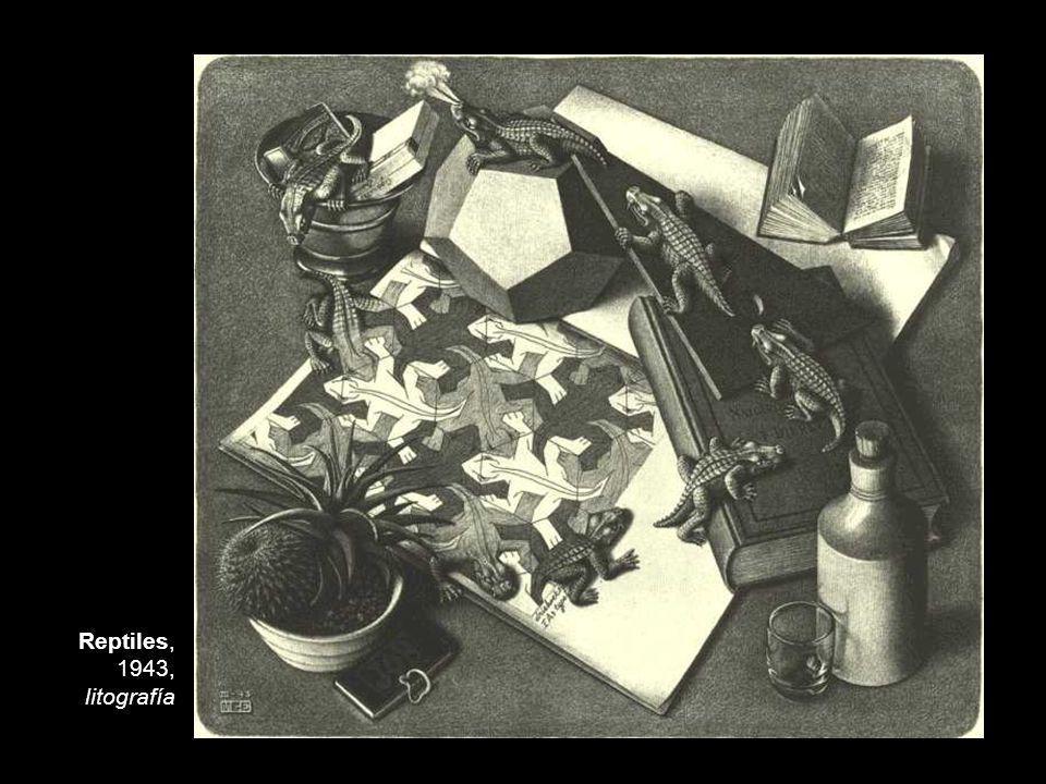 Reptiles, 1943, litografía