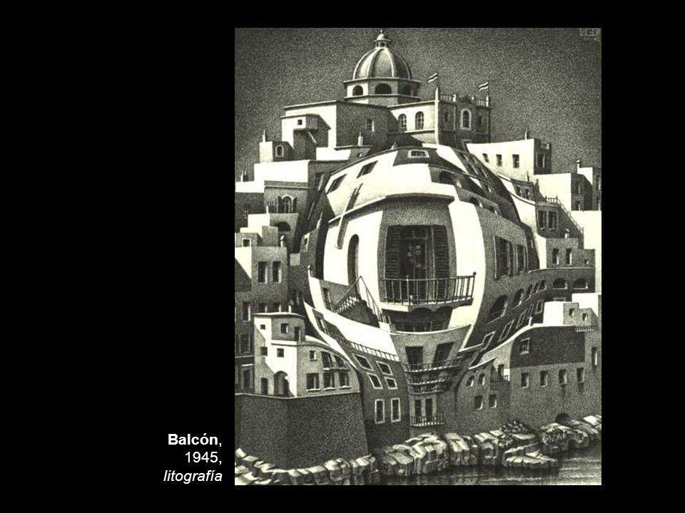 Balcón, 1945, litografía