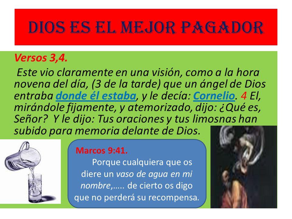 Dios es el mejor pagador Versos 3,4.