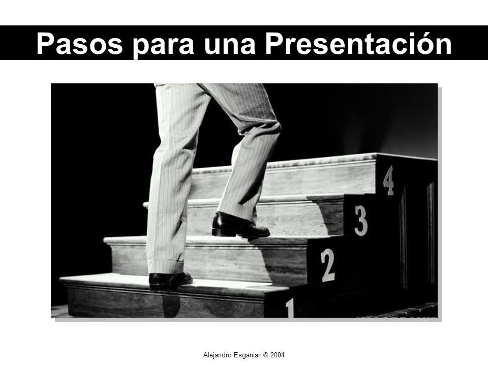 Alejandro Esganian © 2004 Pasos para una Presentación