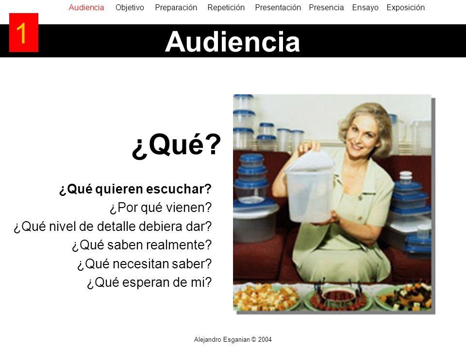 Alejandro Esganian © 2004 ¿Qué quieren escuchar. ¿Por qué vienen.