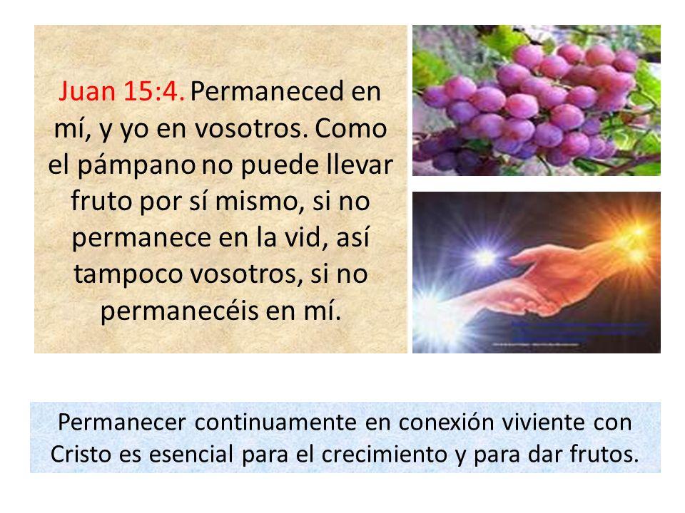 Juan 15:4.Permaneced en mí, y yo en vosotros.