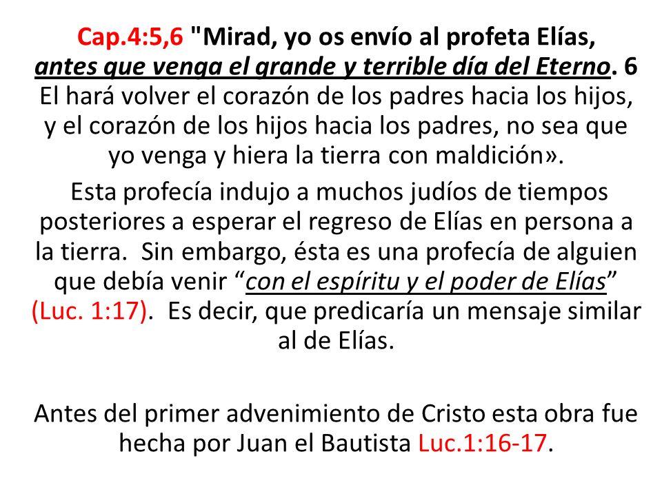 Como hemos visto, los Elías anteriores eran una persona, ¿quién es el tercer Elías.