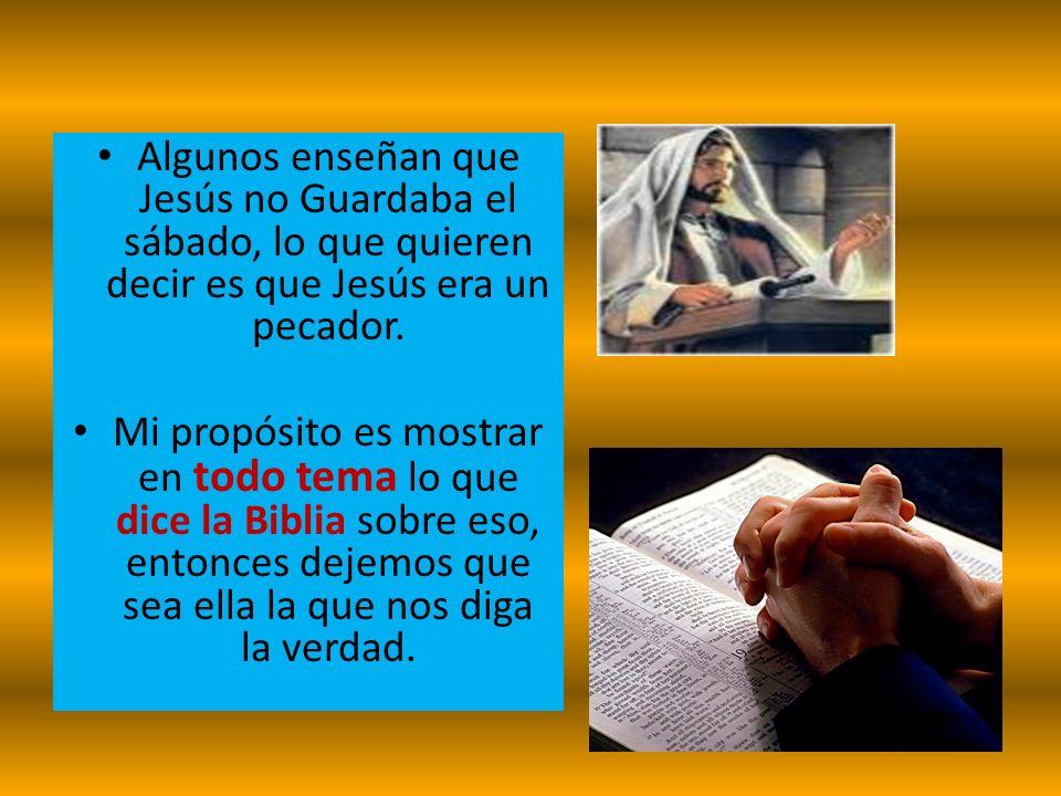 ¿GUARDO JESÚS EL SÁBADO.